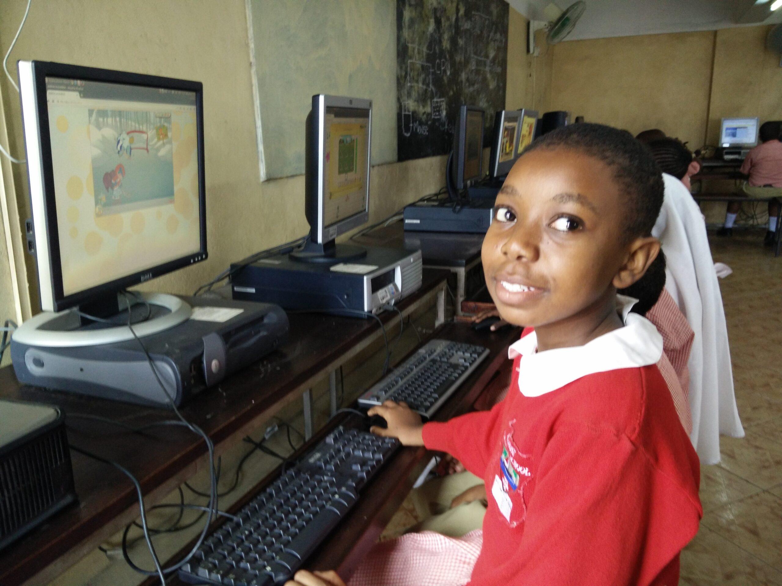 Patience Kamuche from Ganjoni Primary School, Millionth Digital Literate Child